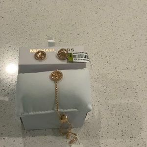 NWT Michael kors earrings and bracelet